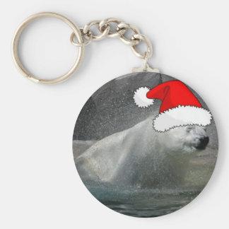 Christmas Polar Bears Keychain