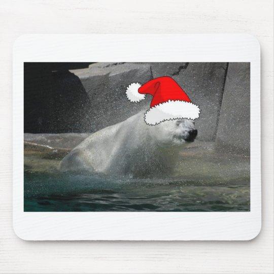 Christmas Polar Bears Mouse Pad