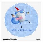 Christmas Polar Fox Room Sticker