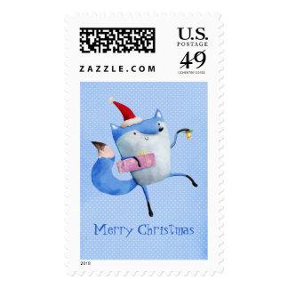 Christmas Polar Fox Stamp