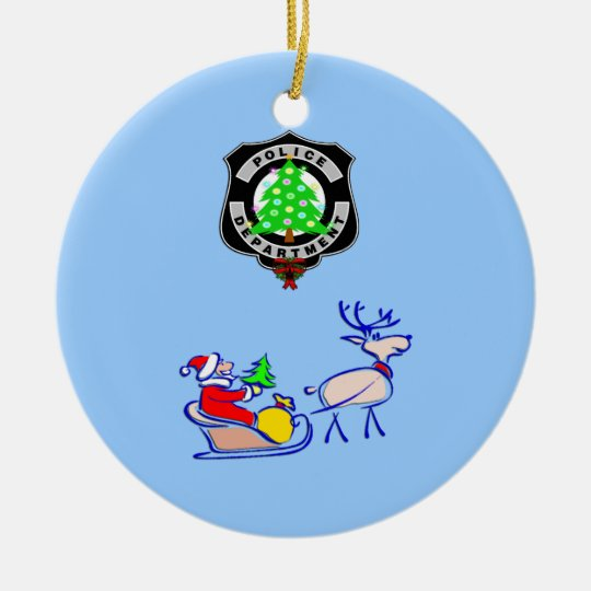 Christmas Police Gifts Ceramic Ornament