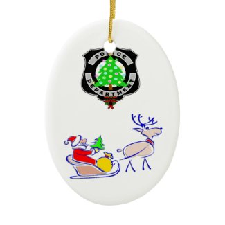 Police Family Ornaments Christmas