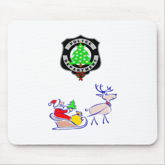 Christmas Police Gifts Mouse Pad