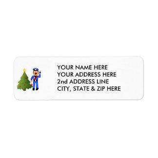 Christmas Policemen Label