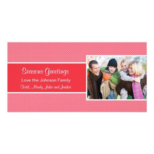 Christmas Polka Dot Photo Card