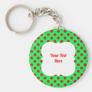 Christmas polka dot red/green keychain
