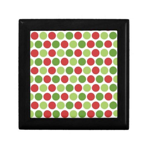 Christmas Polka Dots Keepsake Box