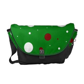 Christmas polka dots messenger bag