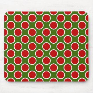 Christmas Polka Dots Mouse Pad