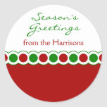 Christmas Polka Dots Name Stickers