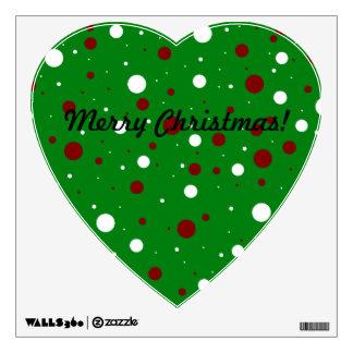 Christmas polka dots room stickers