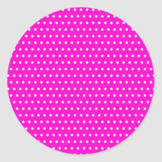 Christmas Polka Hots Dots Dabbed Samples Scores Classic Round Sticker at Zazzle