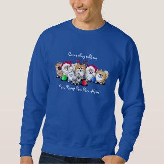 Christmas Pom Mom Pullover Sweatshirt