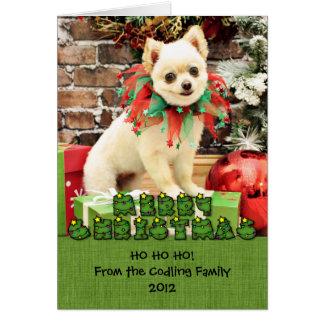 Christmas - Pomeranian - Abby Card