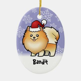 Christmas Pomeranian (add your pets name) Christmas Ornaments