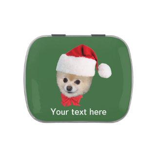 Christmas, Pomeranian Dog,  Customized Text Candy Tin