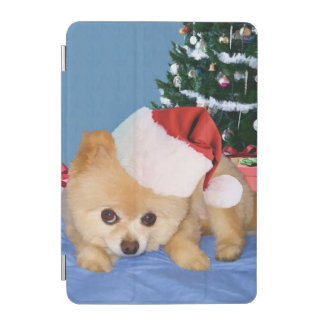 Christmas, Pomeranian Dog, Santa Hat iPad Mini Cover