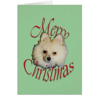 Christmas Pomeranian Greeting Card