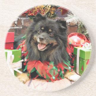 Christmas - Pomeranian - Gucci Coasters