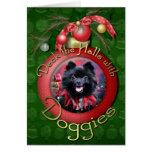 Christmas - Pomeranian - Mazie Card