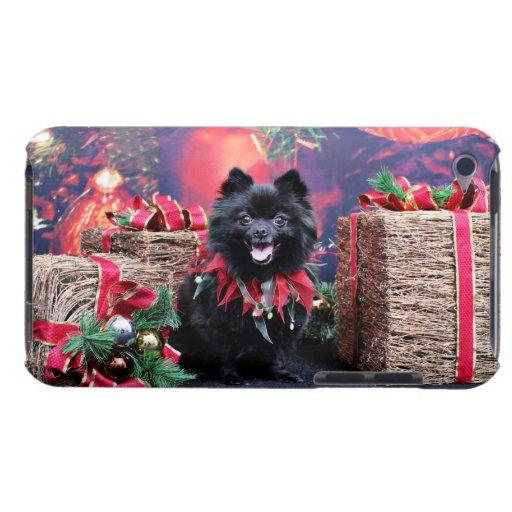 Christmas - Pomeranian - Mazie iPod Case-Mate Cases