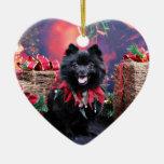 Christmas - Pomeranian - Mazie Christmas Ornaments