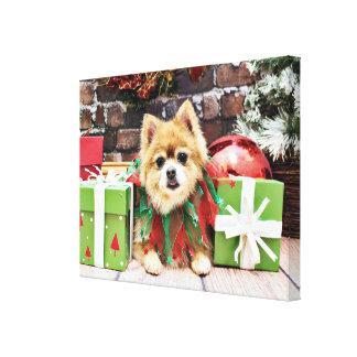 Christmas - Pomeranian - Sophie Canvas Prints
