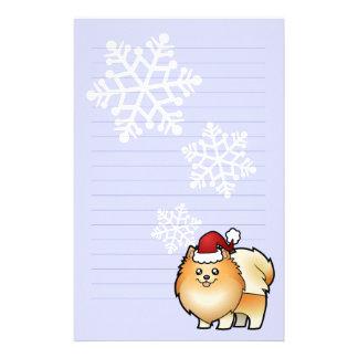 Christmas Pomeranian Stationery