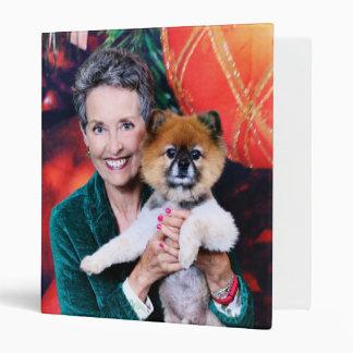Christmas - Pomeranian - Teddy 3 Ring Binders
