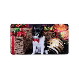 Christmas - Pomeranian - Willy Personalized Address Label