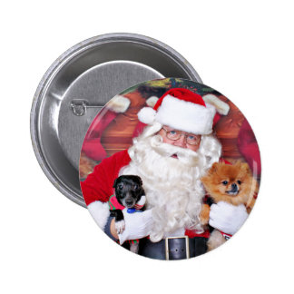 Christmas - Pomeranian & X Breed - Sparky & Evan Buttons