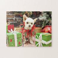 Christmas - Pomeranian X - Daisy Jigsaw Puzzle