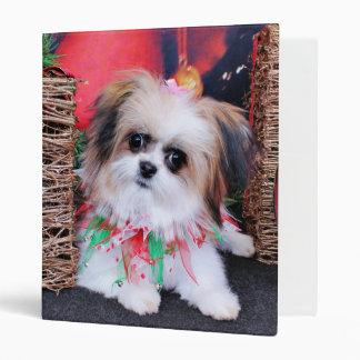 Christmas - PomShih - Lucy Vinyl Binder