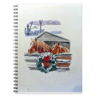 Christmas Ponies Spiral Notebook