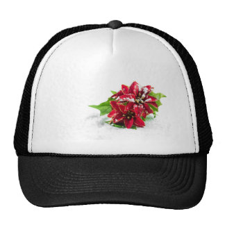 Christmas ponsettia hat