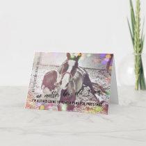 CHRISTMAS PONY 5x7 Greeting Card