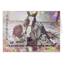 CHRISTMAS PONY 5x7 Greeting Card