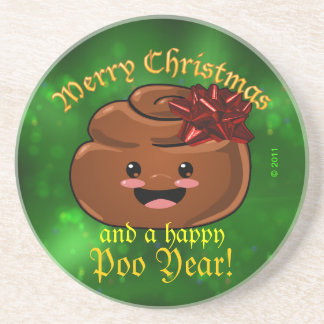 Christmas Poo Coaster