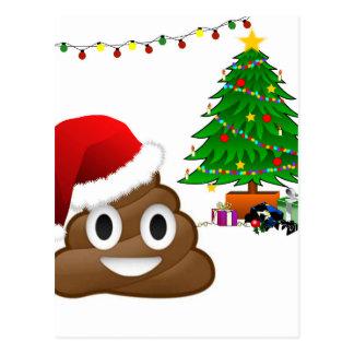 Christmas Tree Emoji Postcards | Zazzle