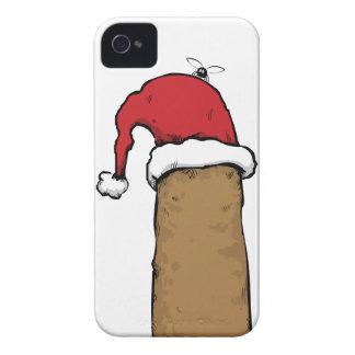Christmas Poo In Santa Hat iPhone 4 Case
