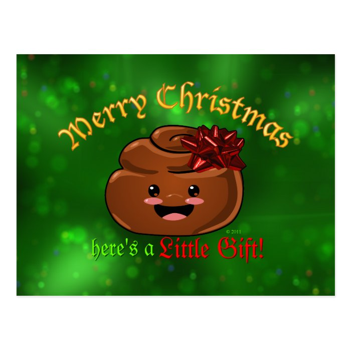 Christmas Poo Postcard