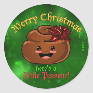 Christmas Poo Stickers