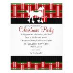 Christmas Poodle and Plaid! Custom Invite