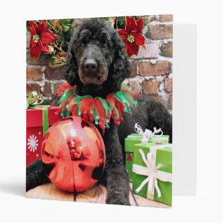 Christmas - Poodle - Beamer Vinyl Binders