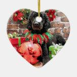 Christmas - Poodle - Beamer Christmas Ornament