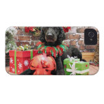 Christmas - Poodle - Beamer iPhone 4 Cover