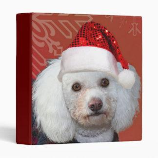 Christmas poodle binder