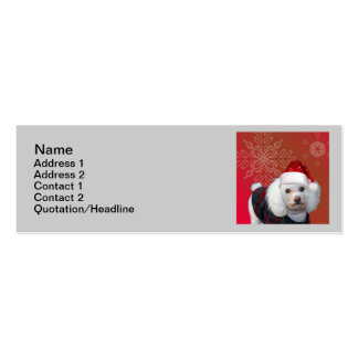 Christmas poodle business cards
