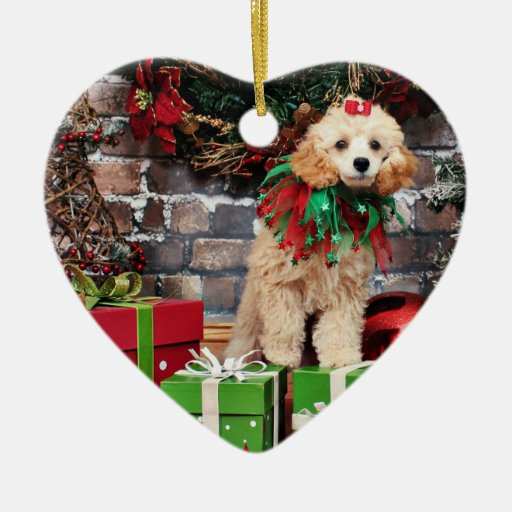 Christmas - Poodle - Dolly Ceramic Ornament