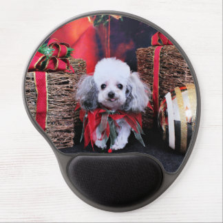 Christmas - Poodle - Lilly Gel Mouse Mat